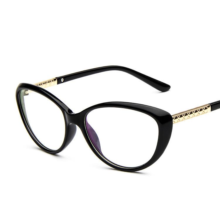 Eyeglasses Stylish Frames : Women Cat Eyes Black Glasses Stylish Eyewear Eyeglasses ...