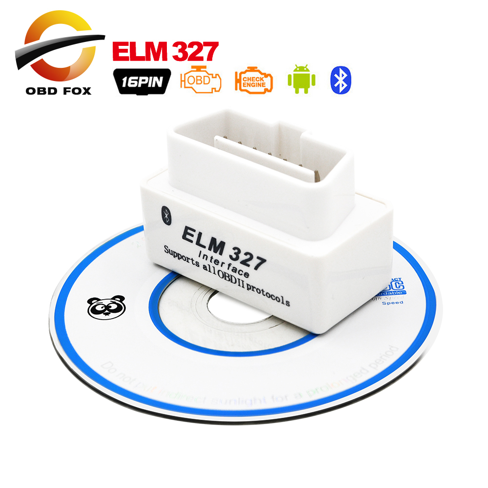 2016 Top selling SUPER MINI ELM327 Bluetooth OBD2 V2.1 White Smart Car Diagnostic Interface ELM 327 Wireless Scan Tool(China (Mainland))