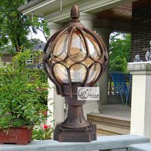 European-style garden light garden outdoor ball column light waterproof wall outdoor light(China (Mainland))