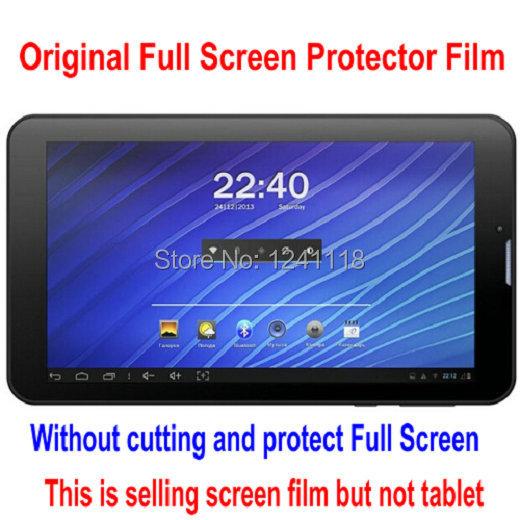 "3pcs/lot Screen Guard 7"" Explay Leader 3g Maxwest TAB PHONE 72DC Tablet Original Clear Full Screen Protector Film Free Shipping(China (Mainland))"