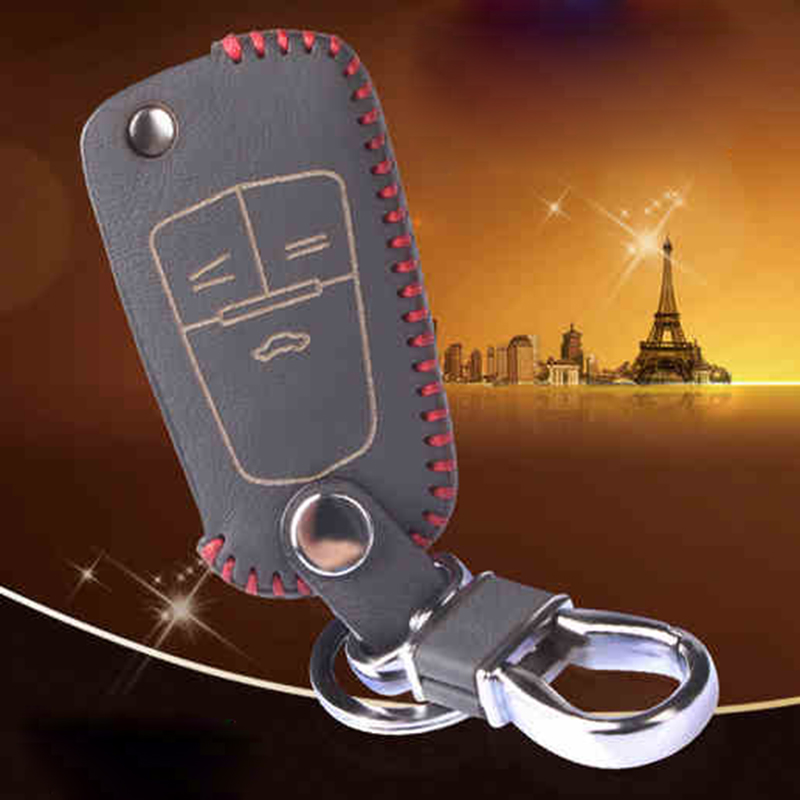 Leather Key Case For Chevrolet Orlando Lacetti Aveo Captiva Cruze Epica Sail Trax Spark Key Ring For Chevrolet Car Keychain(China (Mainland))
