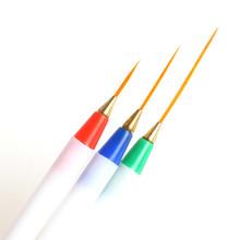 ew Nail Art Pencil Drawing Pen Dotting Tools Kit White Very Fine Plastic 3 Different Sizes Nail Paint Brush NA137