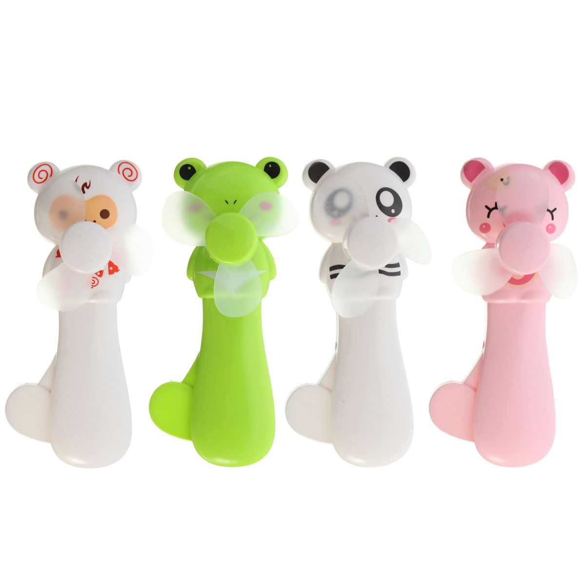 NEW Portable Cartoon Cute Lovely Animals Panda Bear Pig Mini Cool Hand Pressure Fans Baby Children Kids Great Gift Present Toy(China (Mainland))