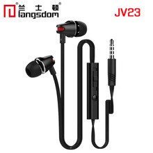Langsdom Jv23 In-ear headphones Flat line With microphone Wired earphone android smartphone headset for samsung iPhone(China (Mainland))