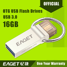 EAGET Official V90 USB 3.0  16GB Smart Phone Tablet PC USB Flash Drives OTG external storage micro 16GB pen drive memory stick