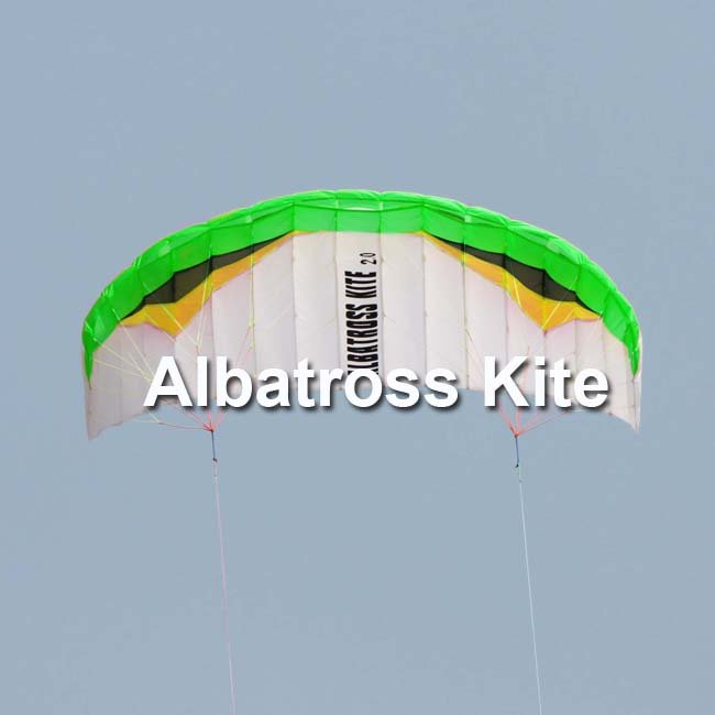 2.0M2 power kites-- green version /traction kite with two lines and straps RTF-- Free Shipping(China (Mainland))