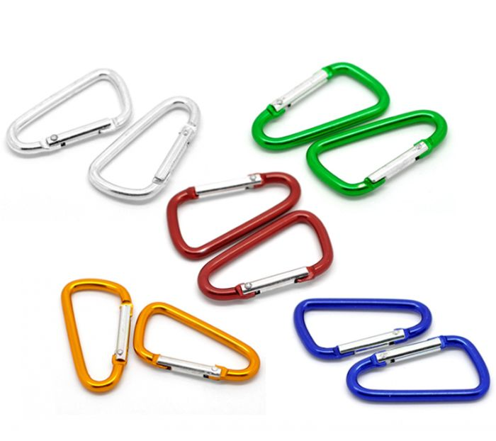 """20PCs Mixed Carabiners Climbing Camp D-Ring Keychains Clips Hooks 4.7x2.6cm(1 7/8""""x1"""") Mr.Jewelry(China (Mainland))"""