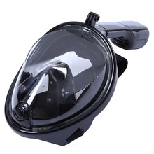 Liquid silicone scuba full face diving mask 180 degree wide viewing diving masks for gopro camera swim snorkel underwater sport(China (Mainland))