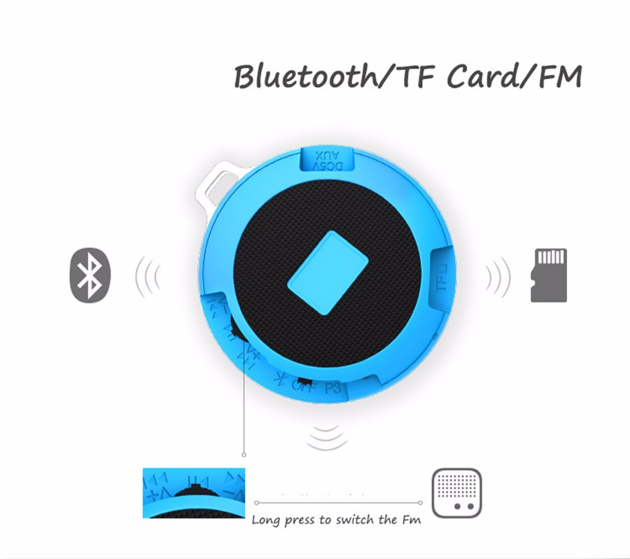 EDWO Y3 Portable Wireless Bluetooth Speaker Outdoor Sport Loudspeaker Music Player FM Radio TF Card For iPhone Samsung Xiaomi PC