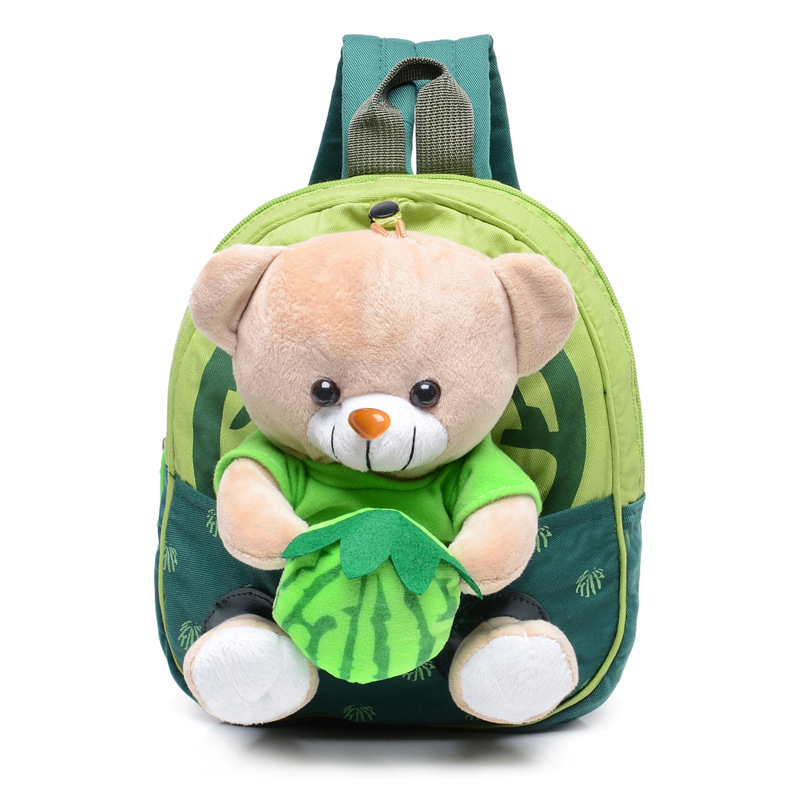 2016 New Cartoon Bear Pattern Double Shoulder Bag 1-3 Years Old Children's Nursery School Bag Fashion Trend Baby Backpack(China (Mainland))