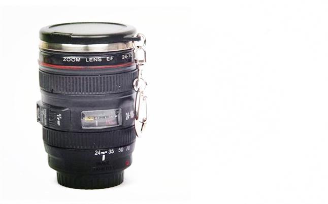 Free Shipping Creative Portable Camera Thermos Cup Camera Mini Lens Mug(China (Mainland))