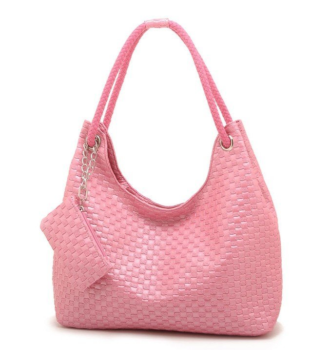 Hot ! 2012 fashion lady bag,with pu leather,black,brown,beige,pink,white,1 pce ,quality guarantee  -  jianfeng cao's store store