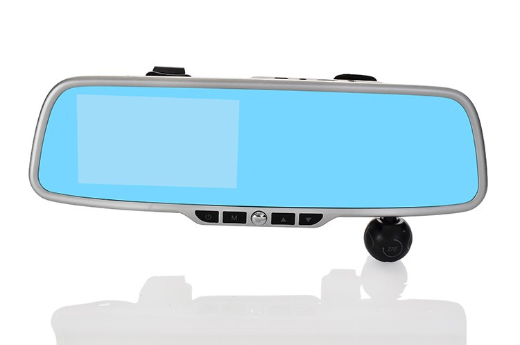 G20 4.3'' 1080P Blue mirror Car rear view mirror DVR Camera Dual Camera Car DVR Camcorder reversing camera GPS logger option(China (Mainland))