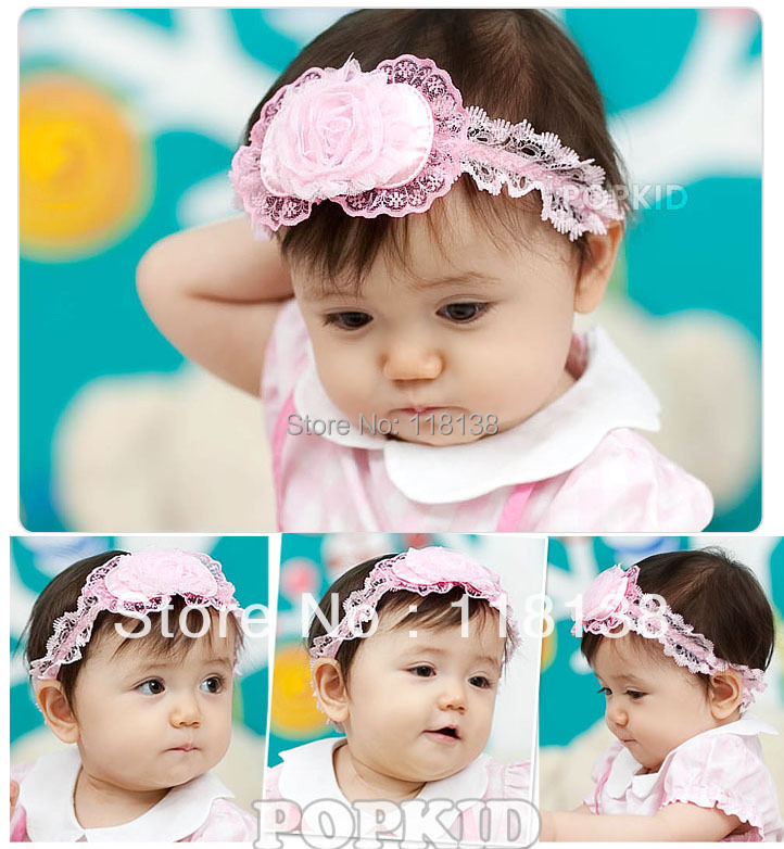 10pieces/lot Nice Baby Flower Hair Accessory Headband Head Band H46 , Free Shipping(China (Mainland))