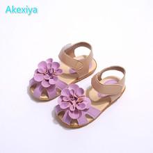 2017 girls summer sandals shoes flowers Dichotomanthes non slip children princess children shoes beach shoes(China (Mainland))
