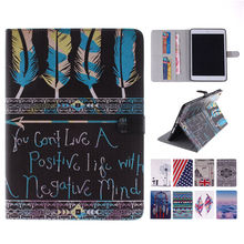 For iPad Mini 2 Luxury Painting Flip Stand Leather Case For Apple iPad Mini 1 2 3 Tablet Case Cover with Card Holder Slot(China (Mainland))