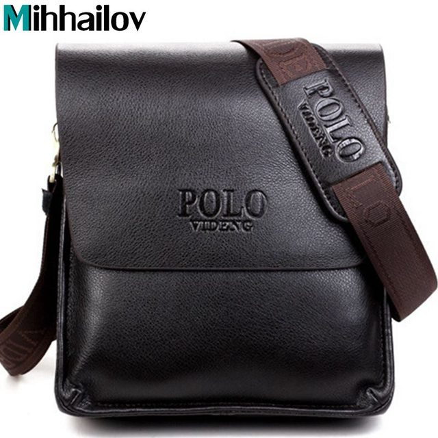 2017 New Arrived free shipping pu leather men bag fashion men messenger bag bussiness bag  SK110