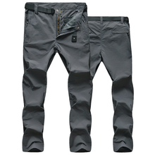 New Outdoor Quick Dry Pants Summer Men Hiking Pants Breathable UV Protection thin Pants For Camping Fishing Trousers L-5XL