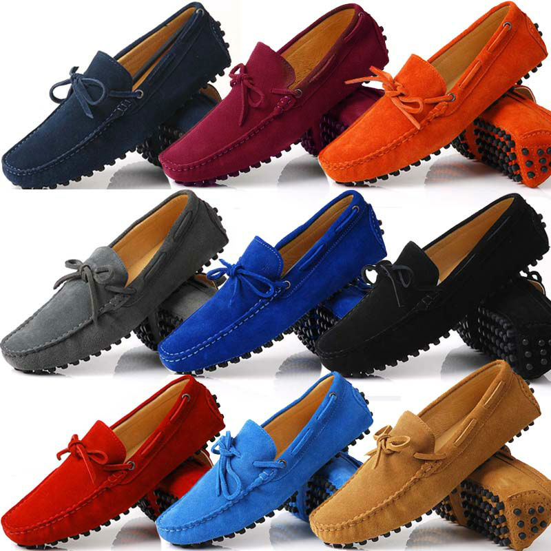US6-12 Suede Leather Mens SLIP 0N loafers casual CAR Shoes Moccasin men boat shoe tassel Loafer(China (Mainland))