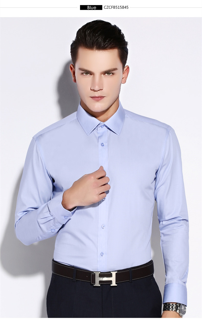 2018 wholesale caiziyijia spring 2016 mens navy blue solid for Cheap slim fit shirts