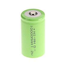 Green Color 2016 New Arrival ! 3 PCS D Size 10000 mAh 1.2 V  NI-MH Rechargeable Battery(China (Mainland))
