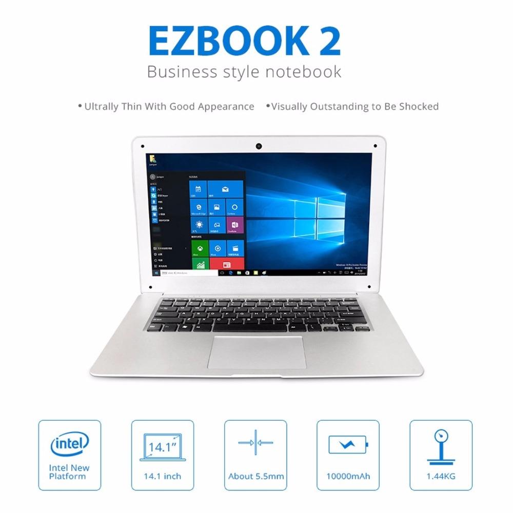 Original Jumper EZbook 2 Laptop 14.1 inch Windows 10 Intel Cherry Trail Z8300 Quad Core 2GB/ 4GB 64GB 10000mAh 1920 x 1080