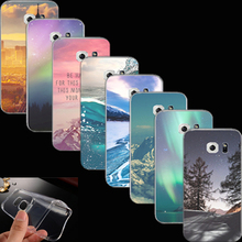 Cases Cover For Samsung Galaxy S6 G920 Soft Clear TPU Case Ultra Thin Phone Shell Scenery Painted Accessories Protector URO CKJ