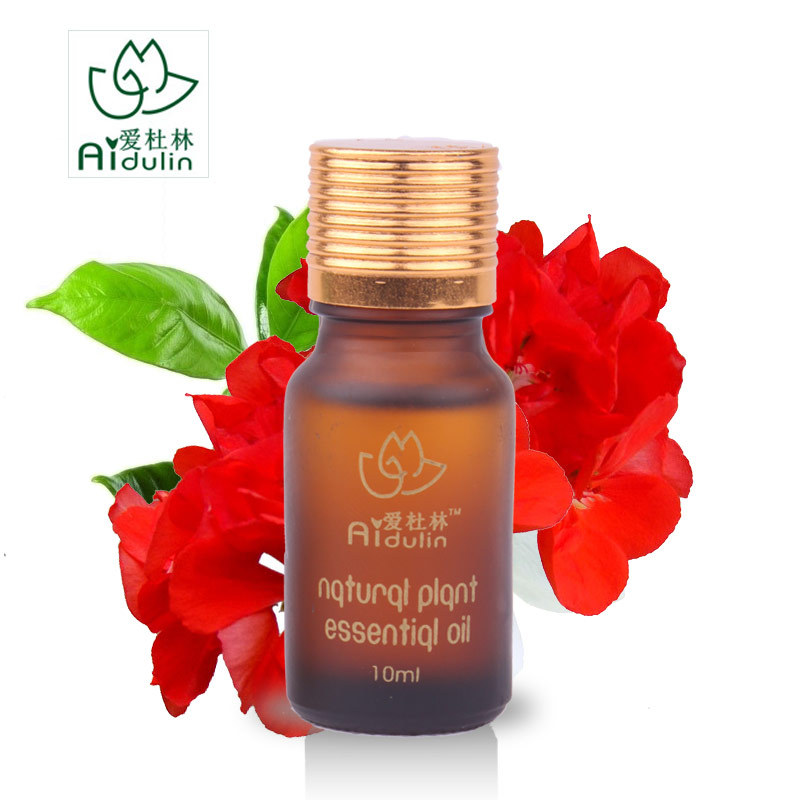 Pure Natural Plant Geranium Essential Oil Deep Cleansing Shrink Pores Balance Oil Conditioning The Skin Cell Repair Regeneration(China (Mainland))