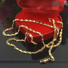 High Quality Gold Plating Rope Chain Stainless Steel Necklace For Women Men Gold Fashion Rope Chain Jewelry Gift can dropshiping(China)