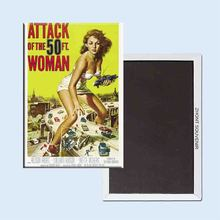 Buy Attack 50 Ft Woman Reynold Brown 24113 Retro nostalgia fridge magnets for $3.48 in AliExpress store