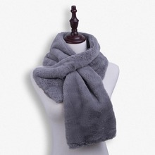 2016 New Fashion Design Fur Winter Scarf Female Wrap Stole Winter Fur Scarves For Women Warm Scarf Shawl Shoulder Protect(China (Mainland))