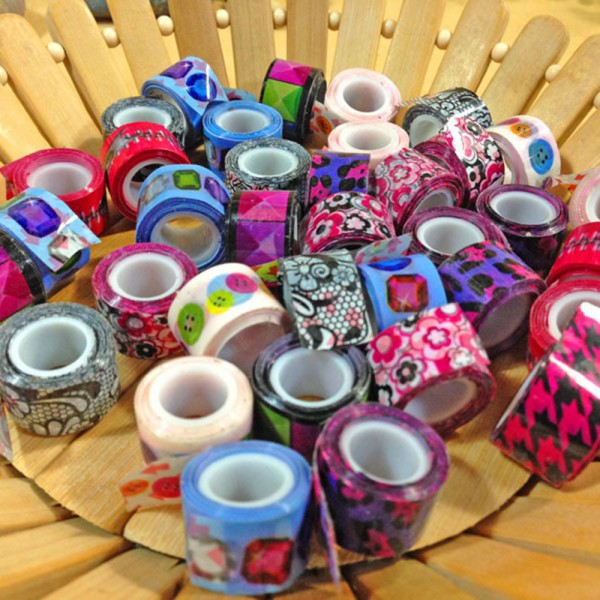 Гаджет  10pcs/lot Hot 2015 Cute Kawaii Cartoon DIY Sticky Sticker Decorative Adhesive tape Wholesale and Retails VC764 P None Офисные и Школьные принадлежности