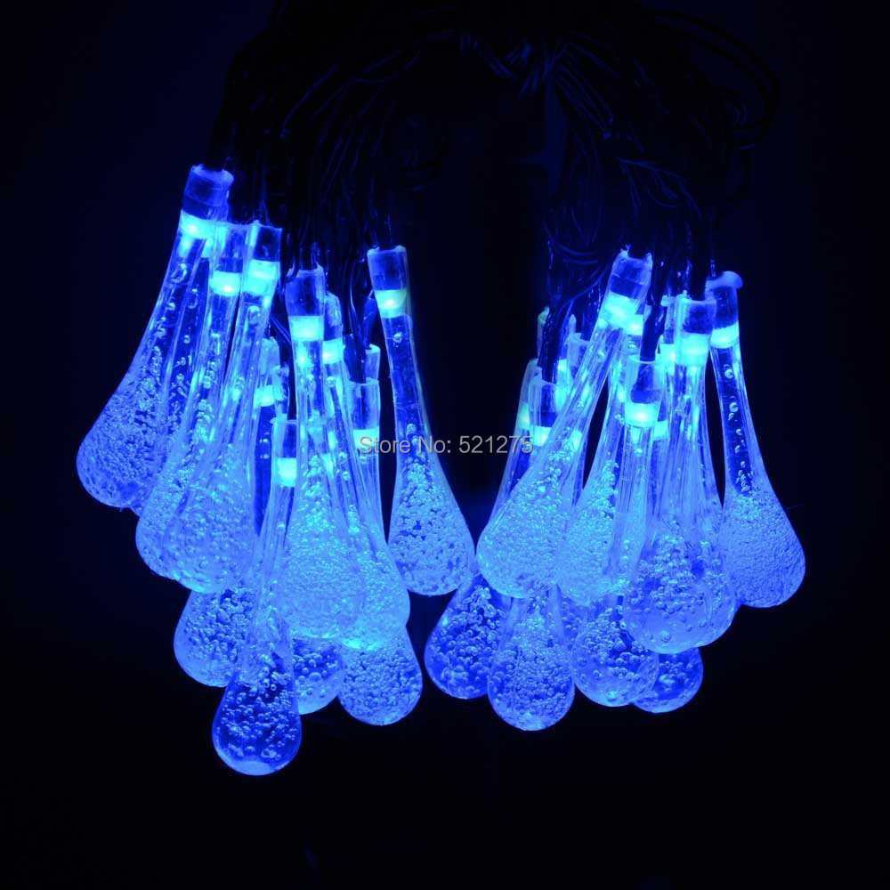 Fairy Lights Patio : Lights Solar Powered Raindrop String Fairy Light For  Outdoor Garden