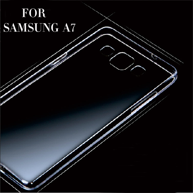 For Samsung A7 phone cases Transparent Clear crystal ultra thin silicon shock skin proof protective case covers(China (Mainland))