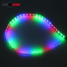 1pcs 44.5cm blue/green/red Waterproof Car Light Energy Saving High Power LED Car Strips Light Source Decorations(China (Mainland))