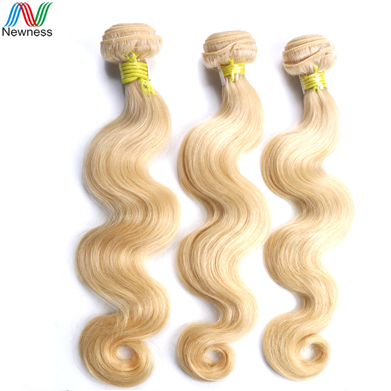 Newness Brazilian Pure Color Hair Extensions #613 Body Wave Human Hair Weave 3 Bundles Wholesale Brazilian Body Smooth Products<br><br>Aliexpress