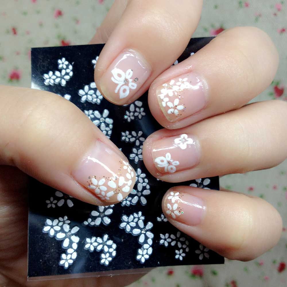 30 sheet floral design 3d nail art stickers beauty water for 3d nail art decoration