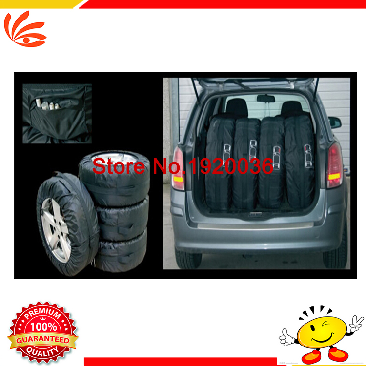 Free shipping Universal Car Spare Tire Cover for SUV Polyester Tyre Cove black wheel accessories 4pcs/set 13inch-19inch size(China (Mainland))
