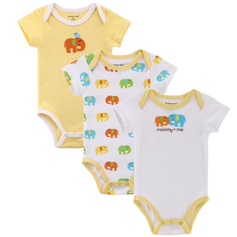 3pcs lot Baby Boy Girl Clothes Short Sleeve Leopard Print 2015 Summer Baby Romper Newborn Next