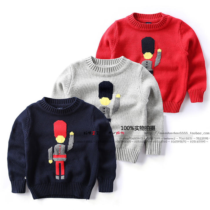 New 2015 autumn winter baby sweaters children clothing kids sweaters baby boys Casual Knitwear pullover(China (Mainland))