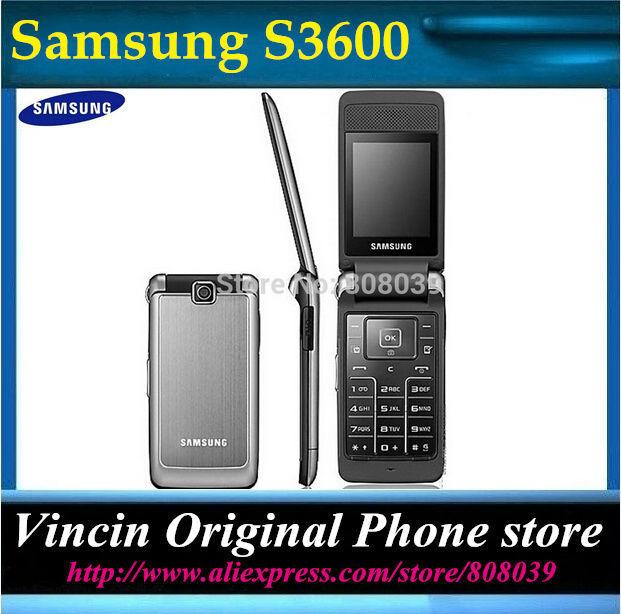 Free Shipping Unlocked Original Samsung s3600 Mobile Phone 1 year warranty Russian language keyboard(China (Mainland))