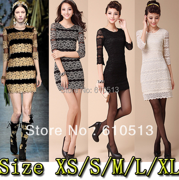 SIZE XS-XL 4 COLORS Fashion rose lace one-piece dress women dress Night dress  Free shipping