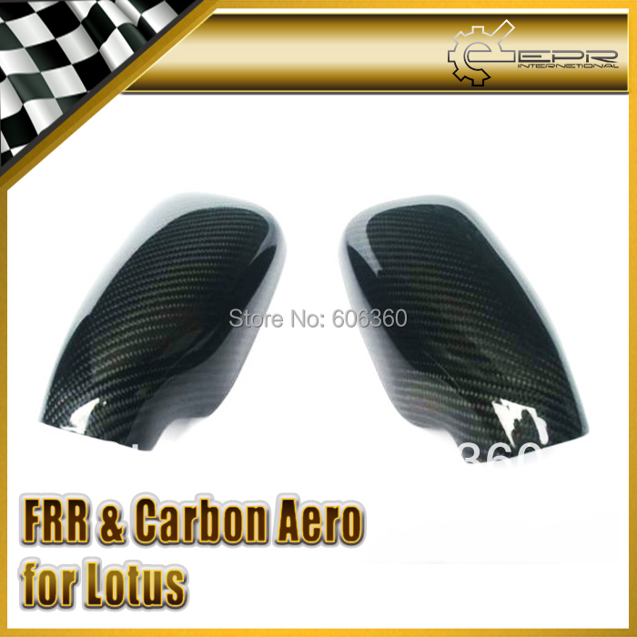 For Lotus Elise S1 Exige S2 Carbon Fiber Mirror Cover UV Protected Glossy Finished(China (Mainland))