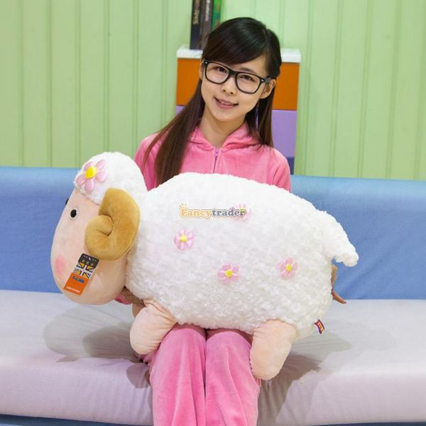 Fancytrader 28'' / 70cm Soft Cute Stuffed Giant Plush Animal Sheep Toy, Nice Gift For Kids and Friends, Free Shipping FT50390(China (Mainland))