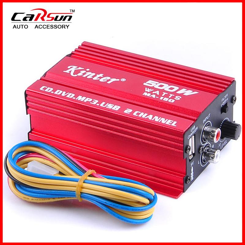 Kinter MA-150 AMP 2CH 500W USB Hi-Fi Digital Stereo Amplifier Car/ Motorcycle / Boat /MP3/MP4/CD MA-150(China (Mainland))