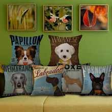 3D Dog Printing Decorative Throw Pillow Covers Cushion Cover
