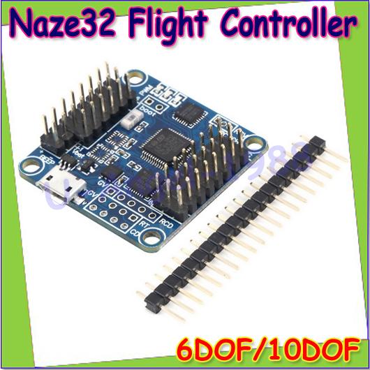 Wholesale 1pcs Naze 32 Flip32+ Rev 5 Naze32 ACRO 6DOF / PRO 10DOF Black Flight Controller board with brano and compass Dropship