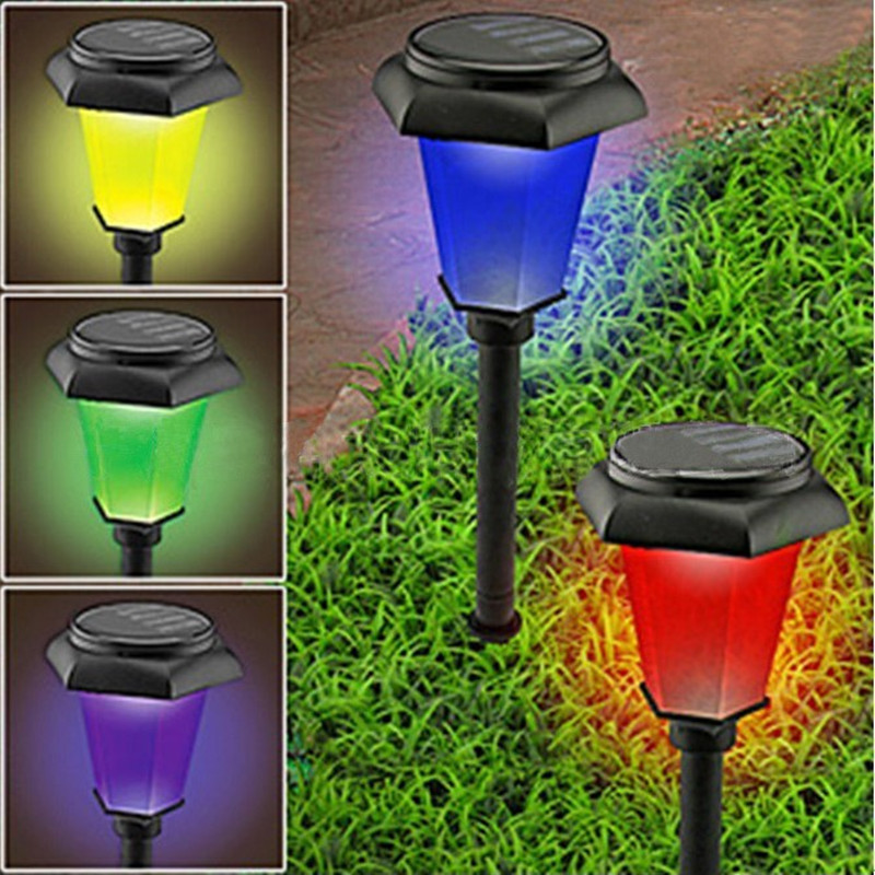 New Solar Power Changing Bright Efficient Garden Yard Outdoor Landscape Path Patio Lawn Decor