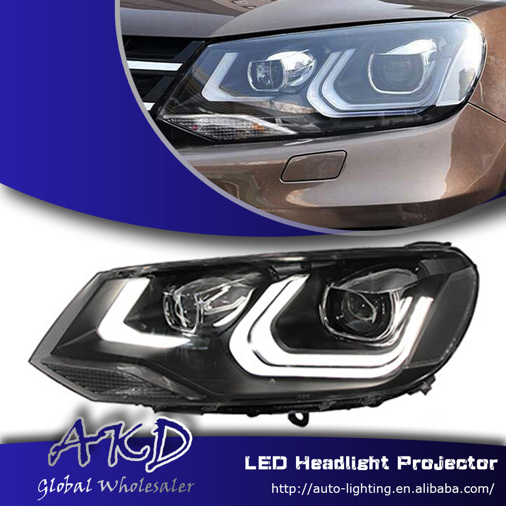 One-Stop Shopping Styling for VW Touareg Headlights New Touareg LED Headlight DRL Lens Double Beam H7 HID Xenon Car Accessories(China (Mainland))