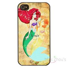 For iphone 4/4s 5/5s 5c SE 6/6s plus ipod touch 4/5/6 back skins mobile cellphone cases cover The Little Mermaid Princess Ariel